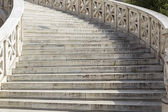 Outside marble staircase in National Library of Greece in Athens — Stock Photo