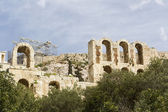 The Odeon of Herodes Atticus on the south slope of the Acropolis — Stock Photo