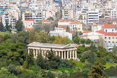 View to Hephaestus Temple from Acropolis, Athens, Greece. — Stock Photo