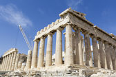 Ancient temple Parthenon in Acropolis Athens Greece  — Stock Photo