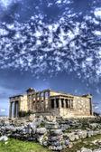 Caryatids in Erechtheum from Athenian Acropolis,Greece.HDR image — Stock Photo