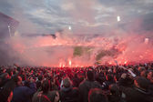 PAOK VS OLYMPIACOS GREEK CUP — Stock Photo