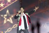 Sakis Rouvas Ace of Heart tour at Sports arena in Thessaloniki — Stock Photo