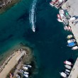 Aerial view of Potidea sea canal, an ancient town of Halkidiki, — Stock Photo #47402313