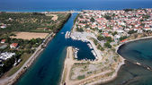 Top view of an Ancient town of Halkidiki, a Corinthian colony, P — Stock Photo