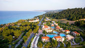 Aerial view of luxury hotel with pools, buildings and nature sur — Stock Photo