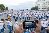 Thessaloniki breaks the Guinness World Record with 1102 people — Stock Photo