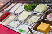 Pita gyro ingredients dips — Stock Photo