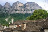 Beautiful view of the historic town of Papigo in Zagori area, no — Stock Photo
