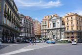 Street view of Naples, Italy. Naples historic city centre is th — Stock Photo