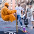 Постер, плакат: Street performer in Naples Italy Every day street performers