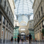 Постер, плакат: Detail of public shopping art gallery Galleria Umberto in Naple