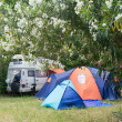 Caravan in organized camping in summertime in Asprovalta, Greec — Stock Photo #51158451