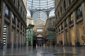 Detail of public shopping, art gallery Galleria Umberto in Naple — Stock Photo