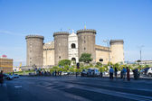 Tourists in Castle Nouvo in Naples on 3, August 2014. Is a medie — Stock Photo