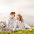 Couple on a picnic — Stock Photo