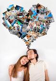 Pár sní o své lásce a cestování — Stock fotografie