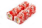 Sushi rolls isolated on white background — Stock Photo