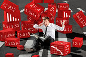 Businessman broker shocked about collapse of shares on the stock — Stock Photo