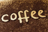 Coffee word — Stockfoto