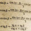 Stock Photo: Trigonometric formulas