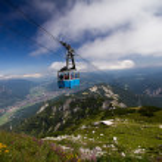 Cable railway Alpen — Stock Photo