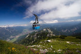 Cable railway Alpen — Stock Photo