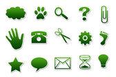 Verschiedene Symbole Button Webshop — Stock Photo
