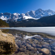 Alps and lake — Stock Photo