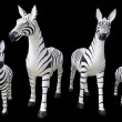 4 large statue of zebra — Stock Photo