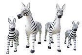 4 large statue of zebra — Stock fotografie