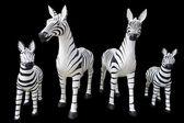 4 large statue of zebra — Stock Photo
