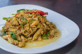 Thai food, Stir-fried crab with curry powder — Stock Photo