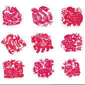 Chinese paper-cut — Stock Photo