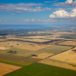 Aerial view of the countryside — Stock Photo