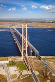 Two bridges over river — Stock Photo