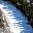 Aerial view of forest river in time of winter day. — Photo