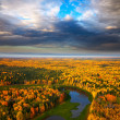 Fores lake in autumn — Stock Photo