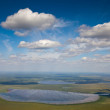 Aerial view of lakes in summer — Stock Photo