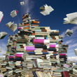 Book mountain — Stock Photo