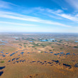 Aerial view of the tundra in the fall — Stock Photo