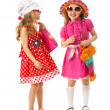 Two girls are dressed for summer — Stock Photo