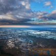 Aerial view of vast swamps under clouds — Stock Photo #33522577
