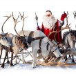 Santa Claus and his deer — Stock Photo