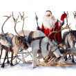 Stock Photo: Santa Claus and his deer