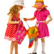 Two girls are dressed for summer — Stock Photo #33522725