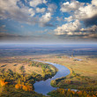 Stock Photo: Top view to the river for autumn