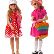 Two girls are dressed for summer — Stock Photo #33523099