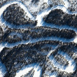 Aerial view of forest river in time of winter day. — Stockfoto #33523275