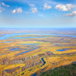 Stock Photo: Top view to the lowland in autumn